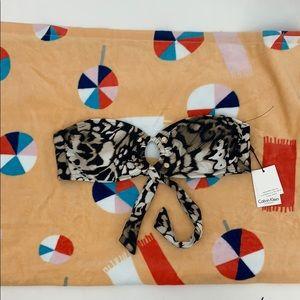 Calvin Klein Swim - 4/$25 Calvin Klein Animal Print Bikini Top XL NWT